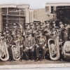 Edge Hill British Railways band postcard