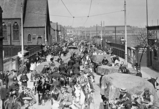 Troops at Edge Hill Station during the 1911 Transport Strike