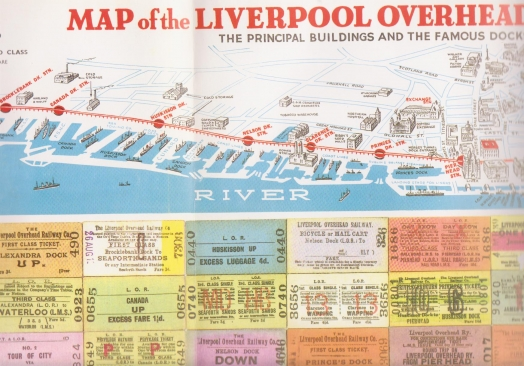 Route of Liverpool Overhead Railway - north