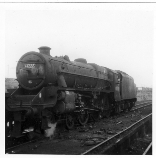 Steam Train at Edge Hill Station 1968. Engine 44777