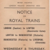 Notice of Royal Trains