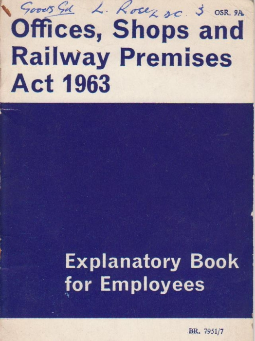 Offices, Shops and Railway Premises Act 1963