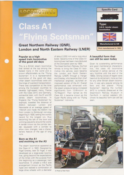 Class A1 Flying Scotsman front