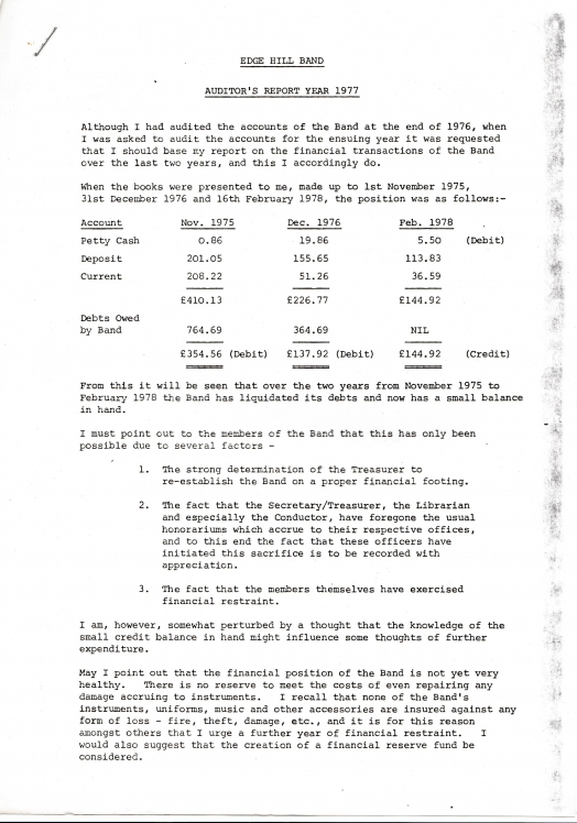 Auditor's Report 1977 1