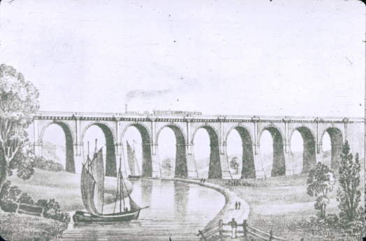 Sankey Viaduct based on Bury print